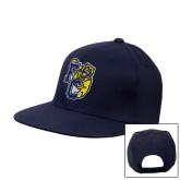 Navy Flat Bill Snapback Hat-Primary Athletics Mark