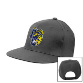 Charcoal Flat Bill Snapback Hat-Primary Athletics Mark