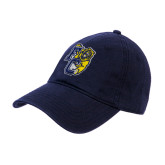 Navy Twill Unstructured Low Profile Hat-Primary Athletics Mark