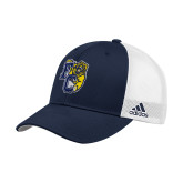 Adidas Navy Structured Adjustable Hat-Primary Athletics Mark