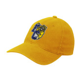 Gold Flexfit Mid Profile Hat-Primary Athletics Mark