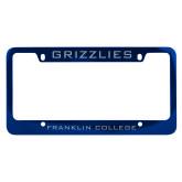 Metal Blue License Plate Frame-Grizzlies