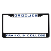 Metal License Plate Frame in Black-Grizzlies