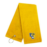 Gold Golf Towel-Primary Athletics Mark