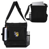Impact Vertical Black Computer Messenger Bag-Primary Athletics Mark
