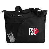 Excel Black Sport Utility Tote-FSU Primary Logo