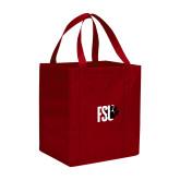 Non Woven Red Grocery Tote-FSU Primary Logo