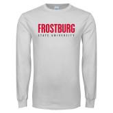 White Long Sleeve T Shirt-Frostburg State University