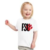 Toddler White T Shirt-FSU Primary Logo