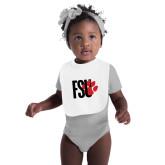 White Baby Bib-FSU Primary Logo