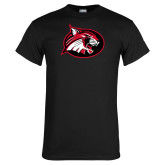 Black T Shirt-Bobcat logo