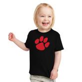 Toddler Black T Shirt-Paw Print