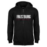 Black Fleece Full Zip Hoodie-Frostburg State University