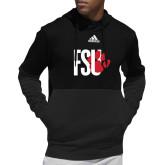Adidas Black Team Issue Hoodie-FSU Primary Logo