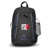 Impulse Black Backpack-FSU Primary Logo