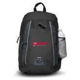 Impulse Black Backpack-Frostburg State University Logo