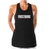 Ladies Under Armour Black Pinhole Tank-Frostburg State University