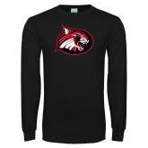 Black Long Sleeve T Shirt-Bobcat logo