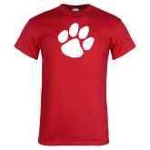 Red T Shirt-Paw Print