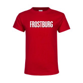 Youth Red T Shirt-Frostburg State Wordmark Logo