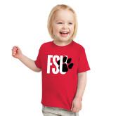 Toddler Red T Shirt-FSU Primary Logo