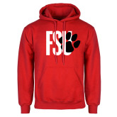 Red Fleece Hoodie-FSU Primary Logo