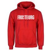 Red Fleece Hoodie-Frostburg State University
