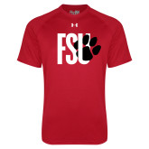 Under Armour Red Tech Tee-FSU Primary Logo
