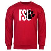 Red Fleece Crew-FSU Primary Logo