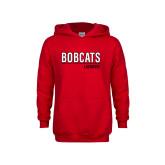 Youth Red Fleece Hoodie-Lacrosse