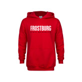 Youth Red Fleece Hoodie-Frostburg State University