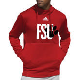 Adidas Red Team Issue Hoodie-FSU Primary Logo