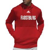Adidas Red Team Issue Hoodie-Frostburg State Wordmark Logo