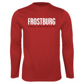 Performance Red Longsleeve Shirt-Frostburg State University