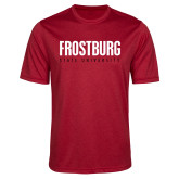 Performance Red Heather Contender Tee-Frostburg State University