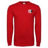 Red Long Sleeve T Shirt-FSU Primary Logo
