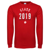 Red Long Sleeve T Shirt-Class of Design, Personalized year