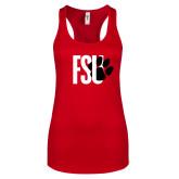 Next Level Ladies Red Ideal Racerback Tank-FSU Primary Logo