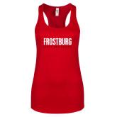 Next Level Ladies Red Ideal Racerback Tank-Frostburg State University