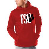 Under Armour Red Armour Fleece Hoodie-FSU Primary Logo