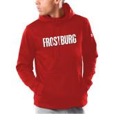 Under Armour Red Armour Fleece Hoodie-Frostburg State Wordmark Logo