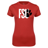 Ladies Syntrel Performance Red Tee-FSU Primary Logo