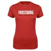 Ladies Syntrel Performance Red Tee-Frostburg State University