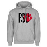 Grey Fleece Hoodie-FSU Primary Logo