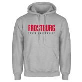 Grey Fleece Hoodie-Frostburg State University