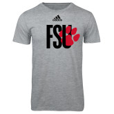 Adidas Sport Grey Logo T Shirt-FSU Primary Logo