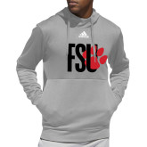 Adidas Grey Team Issue Hoodie-FSU Primary Logo