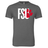 Next Level Premium Heather Tri Blend Crew-FSU Primary Logo