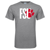 Grey T Shirt-FSU Primary Logo
