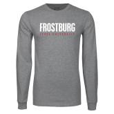 Grey Long Sleeve T Shirt-Frostburg State University